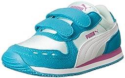 PUMA Cabana Racer Mesh V Kids Classic Sneaker (Infant/Toddler/Little Kid/Big Kid) , Capri Breeze/Bay/White, 5 M US Toddler