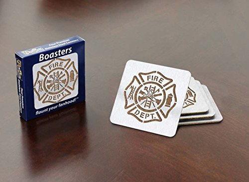 Sportula Products Fire Department Maltese Cross 4-Piece Boaster Coaster set