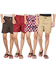 Joven Assorted Printed Cotton Boxer Pack Of 4 - B01EY0YT80
