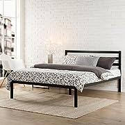 Zinus Modern Studio 14 Inch Platform 1500H Metal Bed Frame/Mattress Foundation/Wooden Slat Support/with Headboard, Full