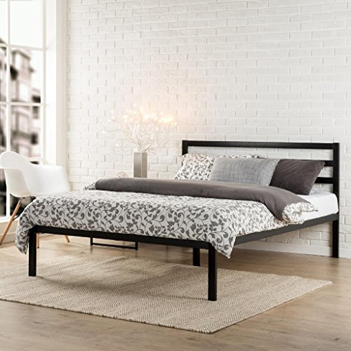 Best Review Of Zinus Modern Studio Platform 1500H Metal Bed Frame/Mattress Foundation with Headboard...