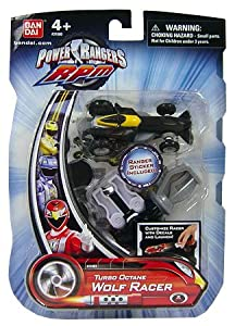 Power Rangers RPM Turbo Octane Zord Black Wolf Racer