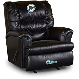 NFL Miami Dolphins Big Daddy Leather Recliner by Imperial