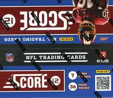 2012 Score Football Factory Sealed HUGE Retail Box with 36 Foil Packs ! Look for Andrew Luck+Robert Griffin III Rookies and Rare Autographs! Brand New !