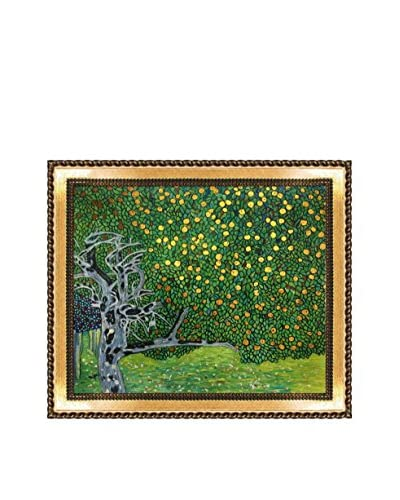 "Gustav Klimt ""Golden Apple Tree"" Hand-Painted Reproduction with Gold Foil"
