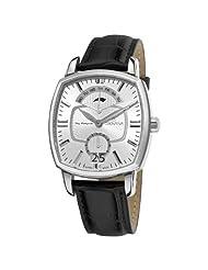 Grovana Men's 1717.1532 Traditional Traditional Silver Dial Quartz Watch