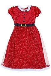 Komar Kids Big Girls' Miss Santa Red Holiday Nightgown