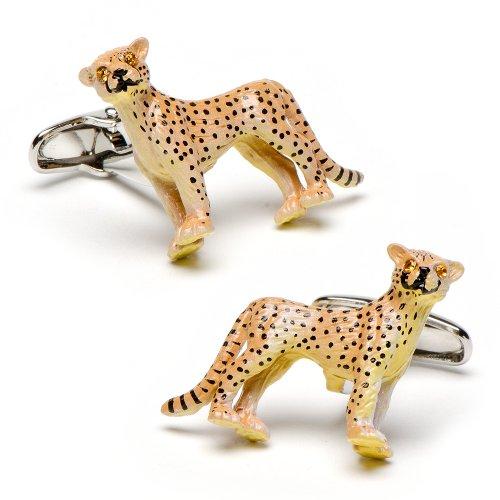 Enamel Cheetah Cufflinks