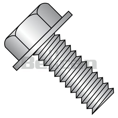 1 Length Type F Hex Washer Head 18-8 Stainless Steel Thread Cutting Screw Slotted Drive 1//4-20 Thread Size 1 Length Small Parts 1416FSW188 Pack of 10 Plain Finish 1//4-20 Thread Size Pack of 10