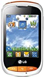 LG Cookie Style T310 Unlocked Mobile Phone - White/Orange