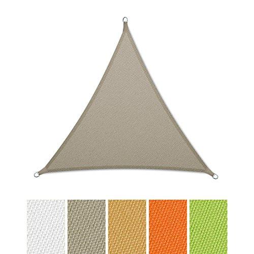 ® Sonnensegel wasserabweisend imprägniert | Dreieck gleichseitig | UV Schutz | verschiedene Farben und Größen (grau, 3x3x3m)