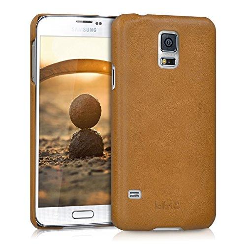 kalibri-Backcover-Hlle-aus-Echtleder-fr-Samsung-Galaxy-S5-S5-Neo-S5-Duos-in-Cognac