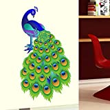 StickersKart Wall Stickers Slender Peacock Design (Wall Covering Area: 60cm x 105cm)