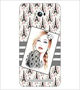 PrintDhaba Beautiful Girl Sketch D-1134 Back Case Cover for ASUS ZENFONE MAX ZC550KL (Multi-Coloured)