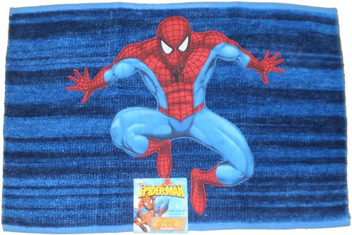 math depot math toys spider man embroidered chenille rug
