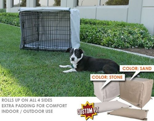 Crate Cover and Pad Set for Precision Pet 2-Door Great Crate Depth: 36, Color: Stone