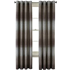 studio dakota grommet top curtain panel moon rock multi