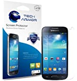 Tech Armor Samsung Galaxy S4 Mini Premium High Definition (HD) Clear Screen Protector with Lifetime Replacement Warranty [3-PACK] - Retail Packaging
