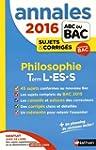 Annales ABC du BAC 2016 Philosophie T...