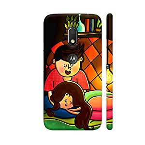 Colorpur Love Is Dozing On His Lap Designer Mobile Phone Case Back Cover For Motorola Moto G4 Play with hole for logo | Artist: Woodle Doodle