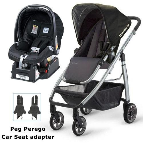 UPPAbaby 0071JKE Cruz Stroller with Matching Peg Perego Car Seat and Adapter - Jake