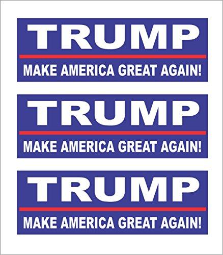 3 Trump 2016, Make America Great Again! Hard Hat Motorcycle Biker Helmet Stickers 1