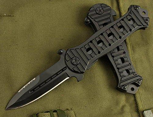 All Black Full Tang Pocket Folding Skinner Sharp Knife Da10-8.07''