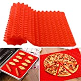 BonBon silicone red pyramid baking mat 16 x 11.5