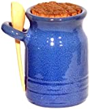 Amazing Cookware Terracotta Salt Pot and Ladle - Blue