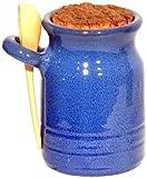 Amazing Cookware Terracotta Salt Pot and Ladle - Blue