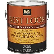 Best Look Modified Alkyd/Acrylic Semi-Transparent Exterior Stain-EXT LTX TINT BS