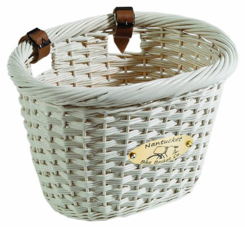  Nantucket Bike Basket CompanyCliff Road Collection Oval Adult Bike Basket (White)
