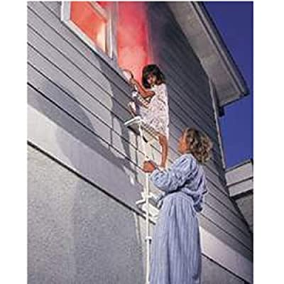 """2 Story Fire Escape Ladder, Holds Up To 600 Pounds (White) (12.5' L x 14"""" W x 9"""" D)"""