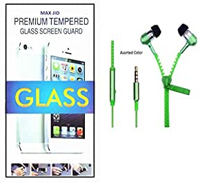 Tempered Glass Screen Protector Sony Xperia C3 With Zipper Earphone