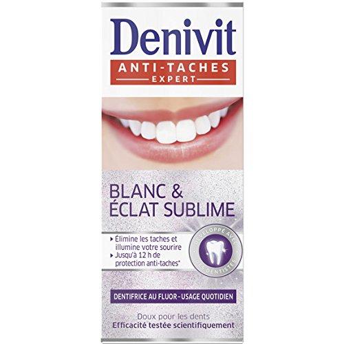 Denivit - Dentifrice anti-taches, blanc & Eclat sublime - Le tube de 50 ml - (for multi-item order extra postage cost will be reimbursed)