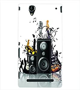 ColourCraft Music Instrument Back Case Cover for SONY XPERIA T2 ULTRA