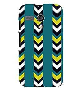 Printvisa Blue And Black Striped Pattern Back Case Cover for Motorola Moto G X1032::Motorola Moto G (1st Gen)