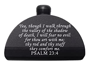Bible PSALM 23 4 Engraved NDZ-P17 Aluminum Grip Frame Plug for Glock 17 19 20 21 22 23 24 31 32 34 35 37 38 GEN 1-3 by NDZ Performance