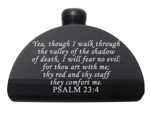 Bible Psalm 23 4 Engraved Ndz-P17 Aluminum Grip Frame Plug For Glock 17 19 20 21 22 23 24 31 32 34 35 37 38 Gen 1-3 By Ndz Performance