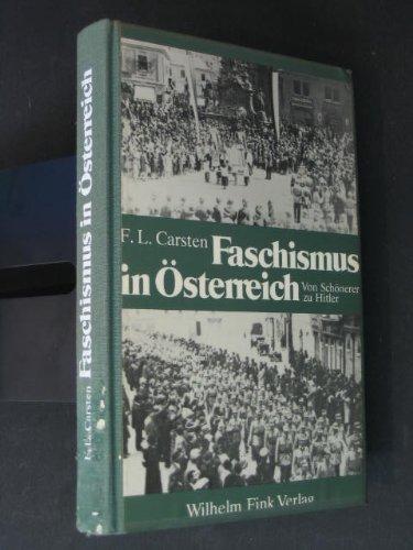 Faschismus in Österreich. Von Schönerer zu Hitler