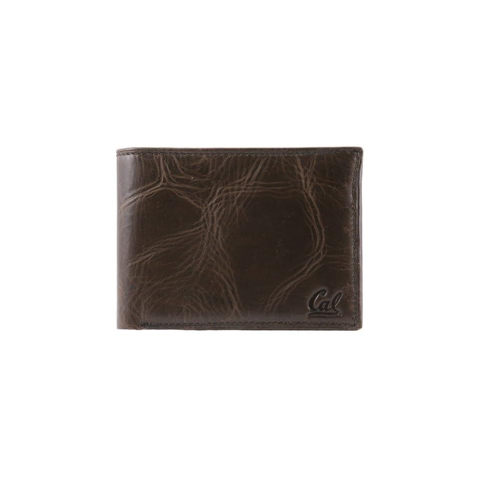Fossil Cal Golden Bears Brown Leather Traveler Wallet