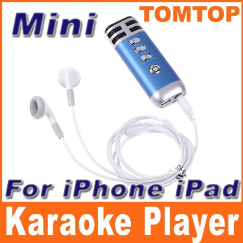 Limited Stock!!! Hot Deal!! Mini Karaoke Player Microphone Home Ktv Pocket Work With Iphone Ipad Mp3 Mp4 Pc