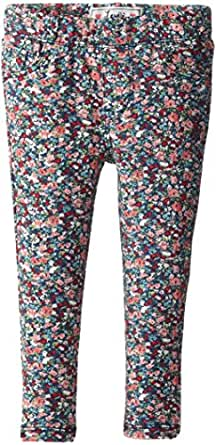 Levi's Little Girls' Addison French Terry Legging, Fall Beach Blue Floral, 2T