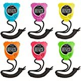 Champion Sports Neon Stopwatch Set Of 6