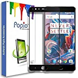 #10: POPIO™ Premium Full Screen Coverage Tempered Glass Screen Guard Protector for OnePlus 3 One Plus Three / Oneplus 3T / One plus 3T (Black)