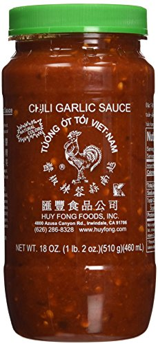 Huy Fong Chili Garlic Sauce, 18-Ounce (Pack of 3) (Huy Fong Garlic Chili Sauce compare prices)