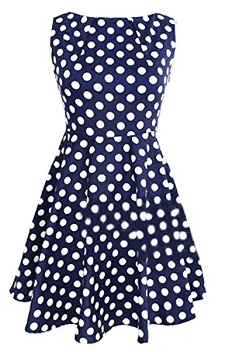 Amoin-Elegant-Pinup-Polka-Dot-Bodycon-Pencil-Tank-Business-Work-Belted-Dress