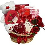 Art of Appreciation Gift Baskets Valentines Treasures Gourmet Food Gift Basket with Teddy Bear