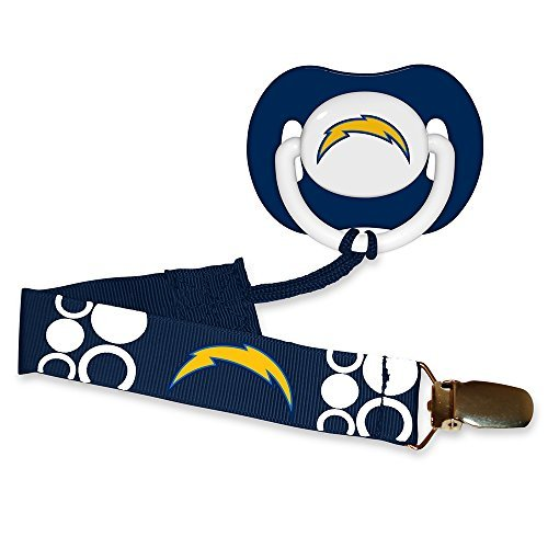 Baby-Fanatic-Pacifier-with-Clip-San-Diego-Chargers