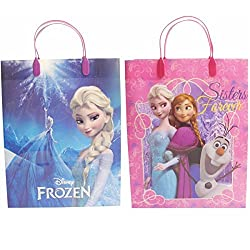 Disney Frozen Beautiful Party Favor Goodie Big Gift Bags (2 Bags)